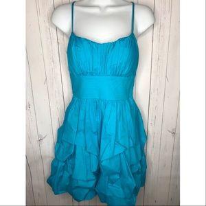 B. Smart Juniors Size 7/8 Teal Blue Ruffled Dress